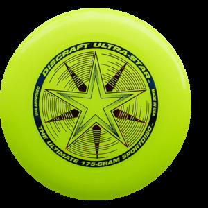 DYSK FRESBEE DISCRAFT 175g. ULTRA STAR żółty