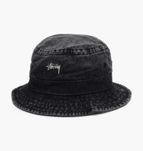 BUCKET STUSSY WASHED DENIM CZARNY