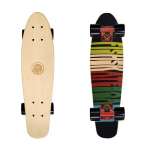 DESKOROLKA FISZKA FISH SKATEBOARDS Cruiser 70s/Red/Black