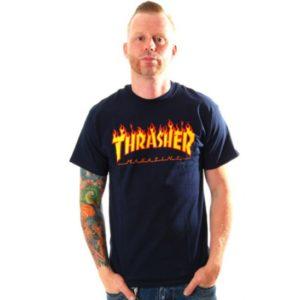 koszulka Thrasher Flame Navy blue