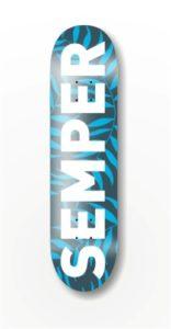 deck SEMPER leaf blue 8.5