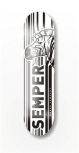 deck SEMPER Zebra white 8.125