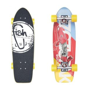 deskorolka Cruiser fish skateboards Szczupak/Silver/Yellow