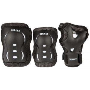 ochraniacze Bullet Blast Junior Triple Pad Set - Black/White 7-9 lat