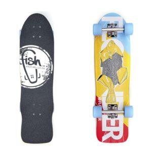 deskorolka fishskateboards Cruiser Flounder/Silver/Blue